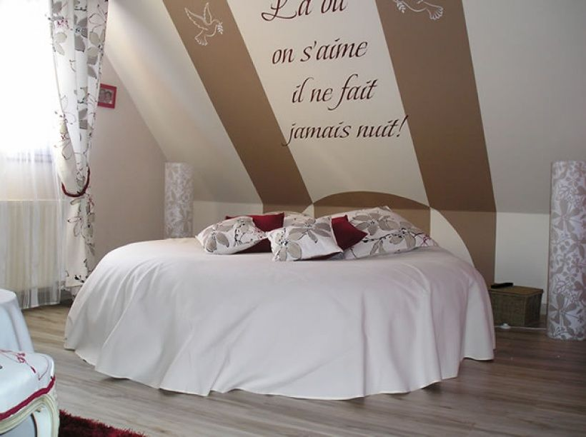 Deco chambre adulte id e d co chambre romantique par for Decoration de lit adulte