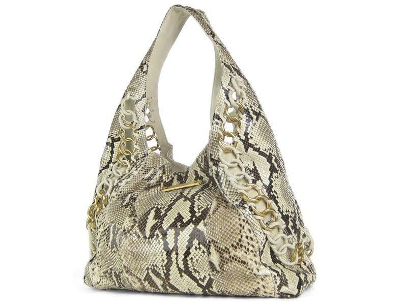Michael Kors Natural Python ID Chain Hobo Bag Review Buy Now