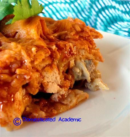 Chicken Enchilada Bake   Domesticated Academic