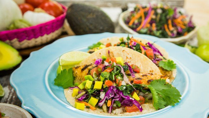 Catfish tacos with malted kale slaw recipe food