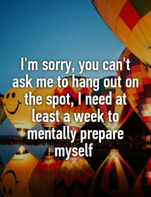 How long I need to mentally prepare really depends on where we are going or what we are doing. Sometimes I need longer sometimes ...