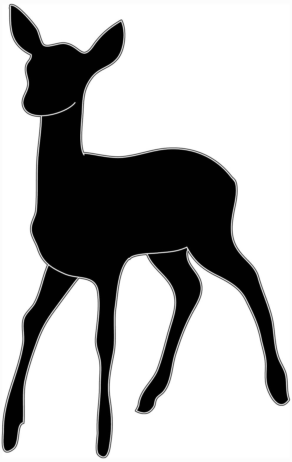 deer head clipart black and white clipart panda free clipart  [ 992 x 1569 Pixel ]