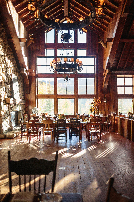 Colorado Wedding In Beaver Creek Reception At Saddleridge Colorado Wedding Venues Mountain Wedding Cabin Wedding