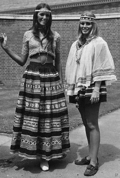 Late 60s Hippies Boho Ethnic Indian Mexican Blanket Skirt Headband Shirt Dress Vintage Fashion