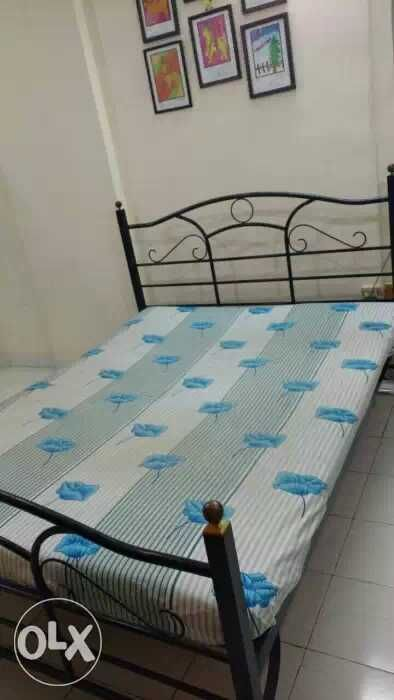 Wrought Iron King Size Double Bed With Mattress For Immediate Sale In Mumbai Rs 9 000 Double Beds Bed Toddler Bed