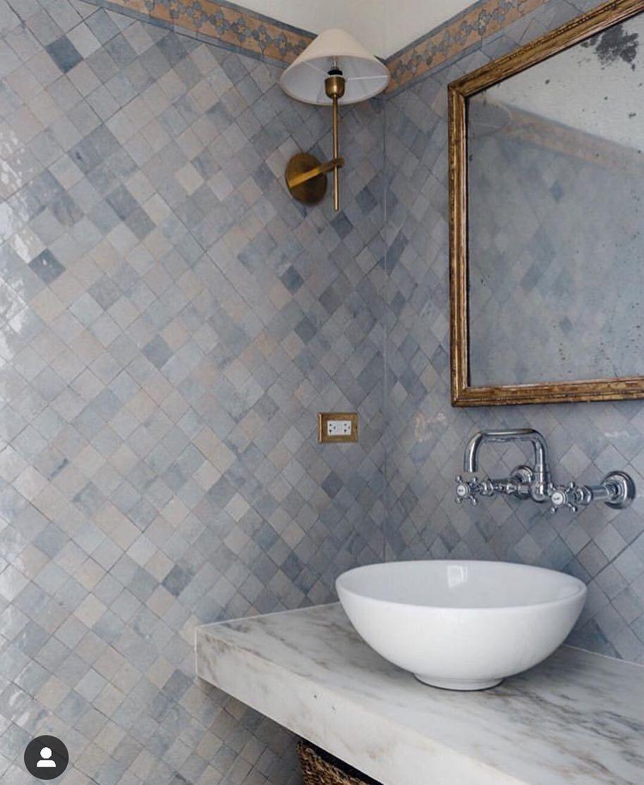 "Kitchen And Bathroom Remodeling Contractors: ANN SACKS On Instagram: ""Zellige Tile Perfection 👌🏻"