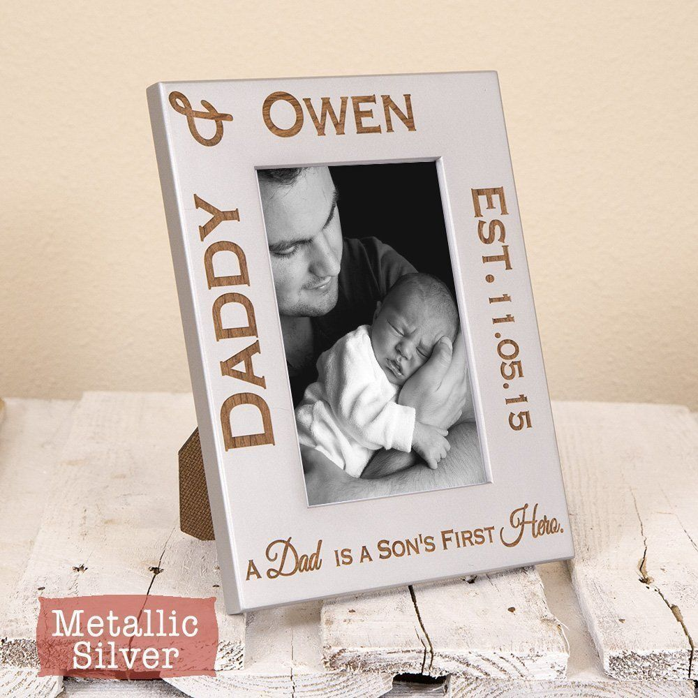 Dad and Son Frame Personalized - Dad Gift From Son - Son\'s First ...