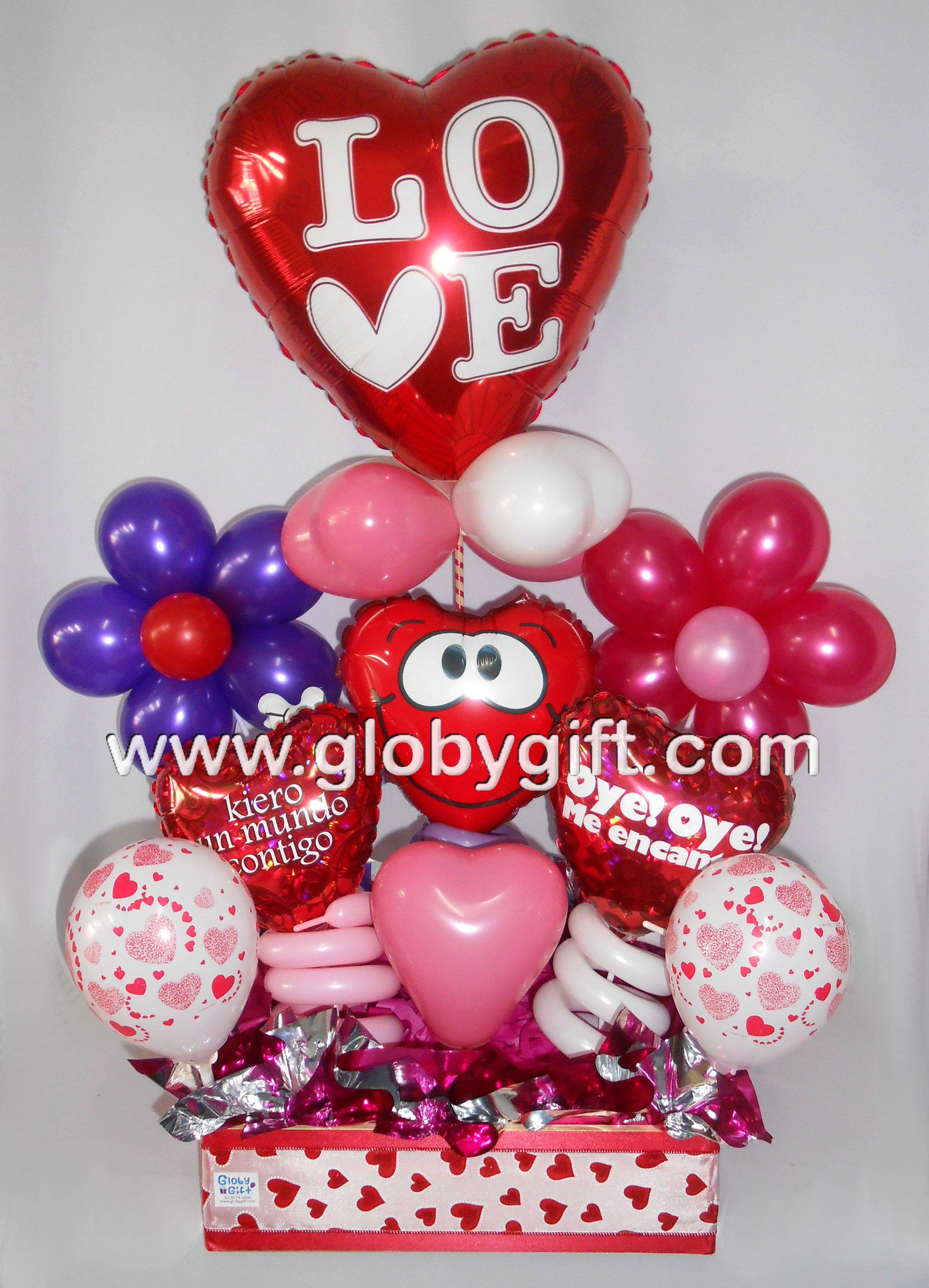 Arreglo de globos para San Valentín. | San Valentín | Pinterest ...
