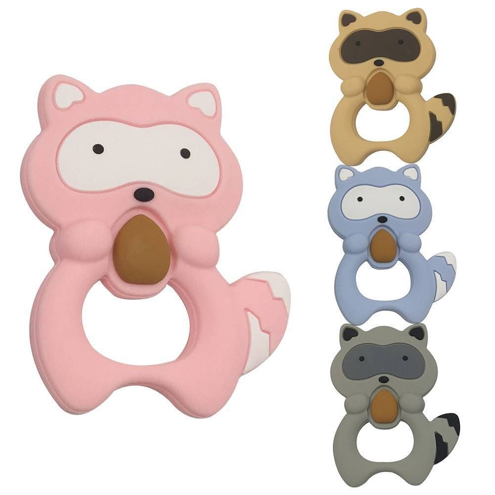 289 safety food grade silicone squirrel teething chew