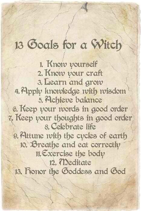13 goals of a witch Love that its 13 goals ;)