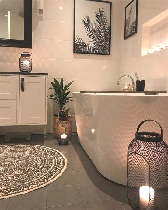kleines #Badezimmer #schwarz #weis #Einrichtung #dekorieren #Ideen - badezimmer einrichten ideen