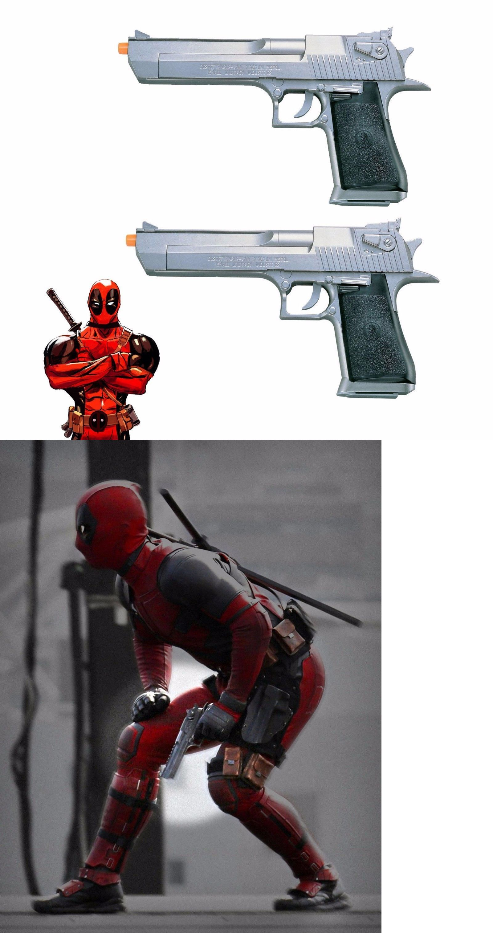 Pistol 160923: Deadpool Movie Dual Desert Eagle Gun Superhero Costume Cosplay Toy Props Airsoft -> BUY IT NOW ONLY: $84.95 on eBay!