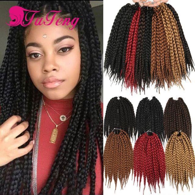 Box Braids Hair 12 Strands Pack Crochet Hair Extensions Senegalese