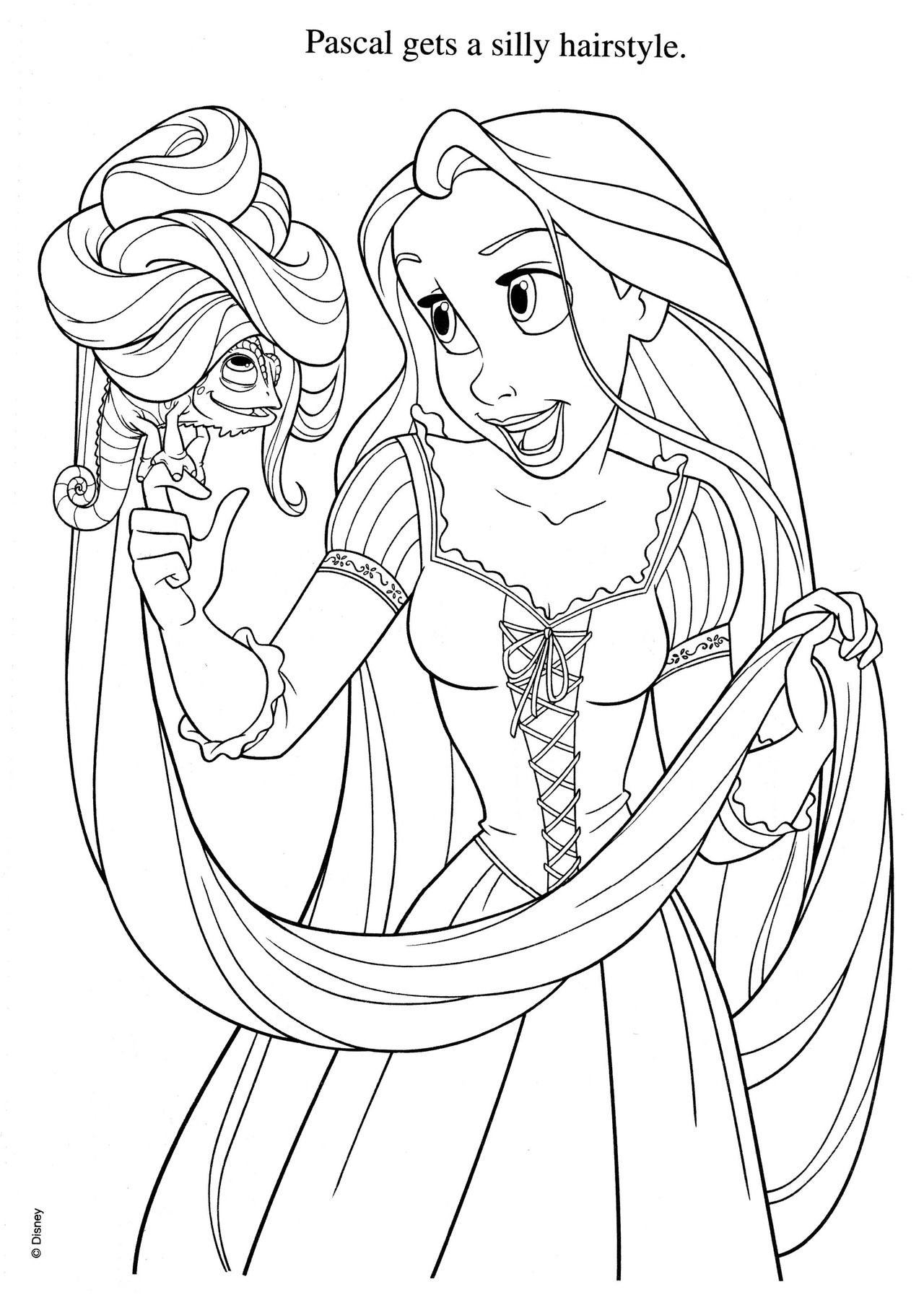 Walt Disney Ausmalbilder Rapunzel Neu Verföhnt : Adorable Tangled Coloring Page Crafts Pinterest