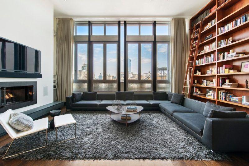 Wandregalsystem design  Wohnzimmer mit Holz-Wandregalsystem   interior living   Pinterest ...