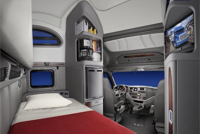 2014 peterbilt 388 sleeper interior trucks equipment pinterest models print and home for Custom semi truck sleeper interior