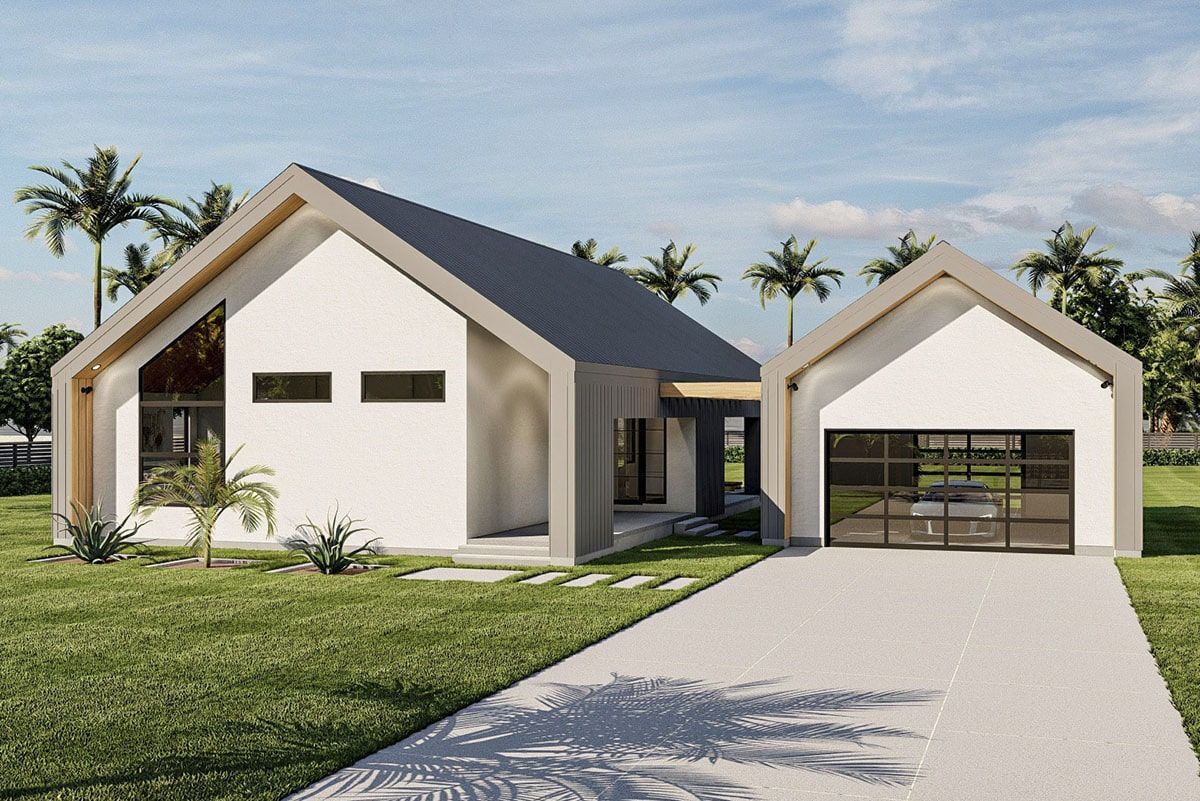 3 Bedroom Single Story Ultra Modern Home with Pull Through Double Garage Floor Plan