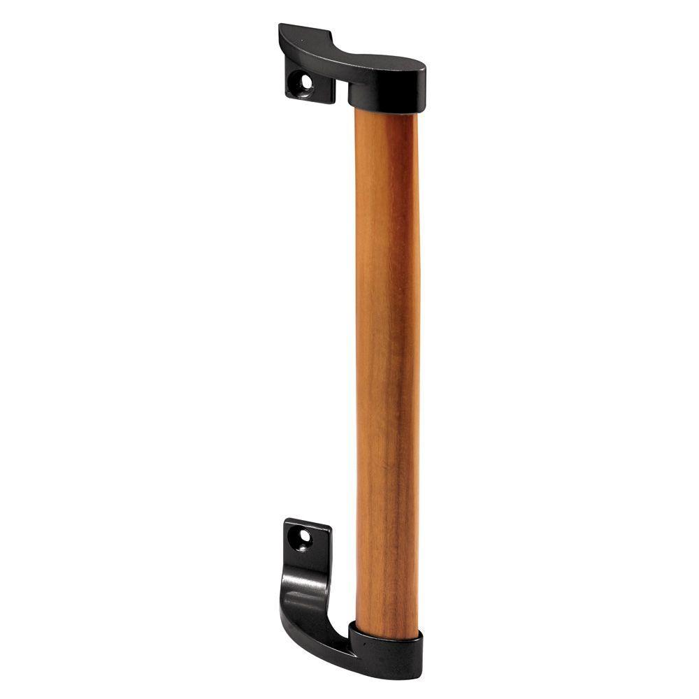 Wood Handle Black Brackets 6 58 In Holes Sliding Door Pull Door