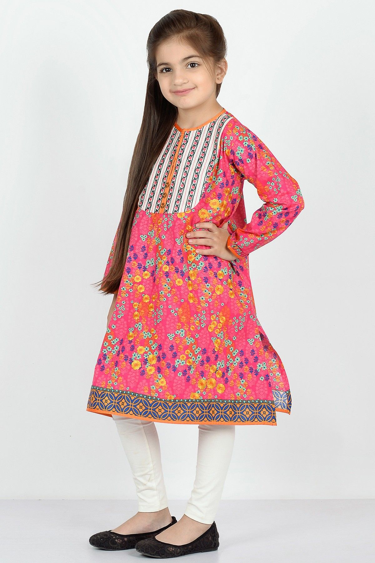 Khaadi Embroidered Kurta Kids Dresses Kids Girl
