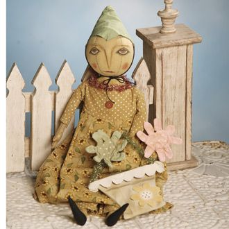 Folk Art Garden Doll - Absolutely Precious!  $43.99