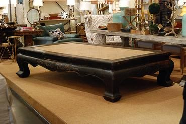 Exceptionally Large Antique Chinese Elm Opium Bed Coffee Table