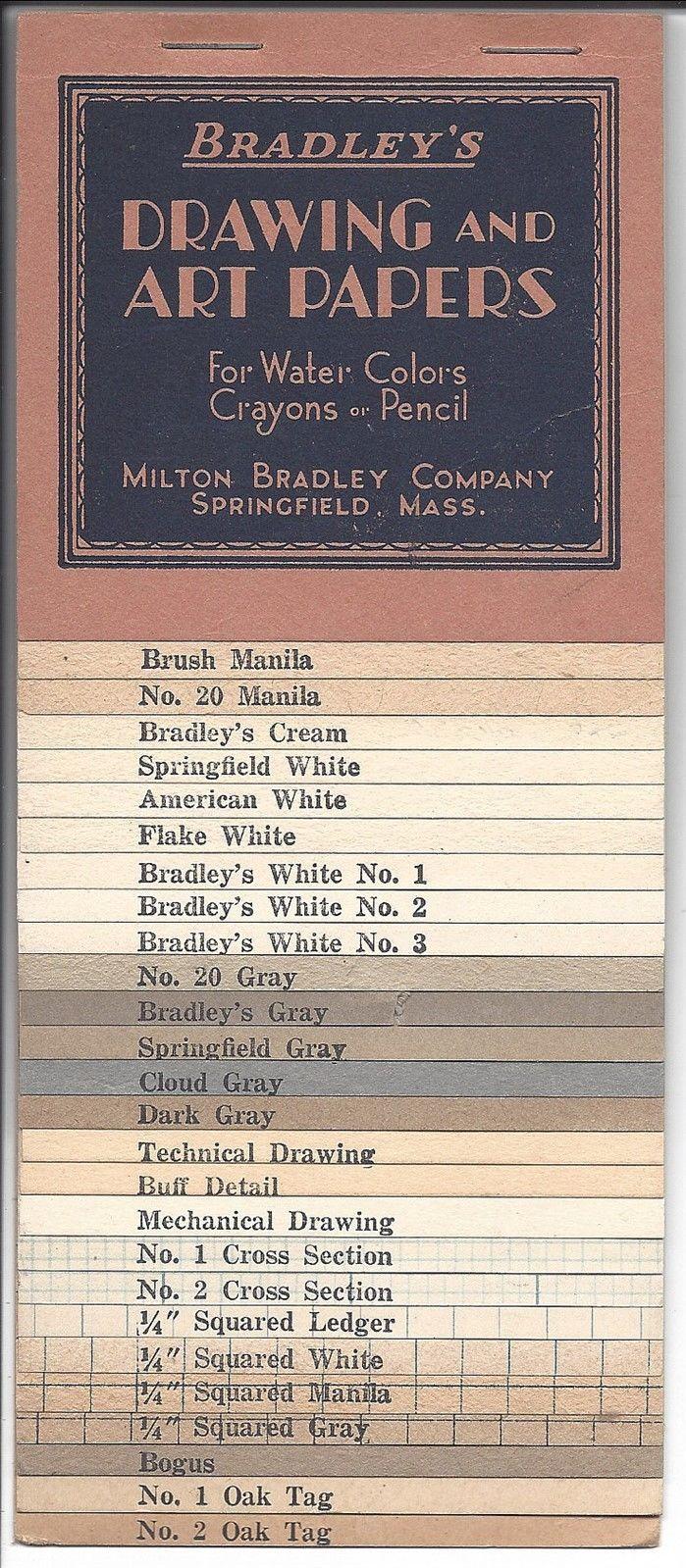 book of paper samples bradley s drawing art papers milton