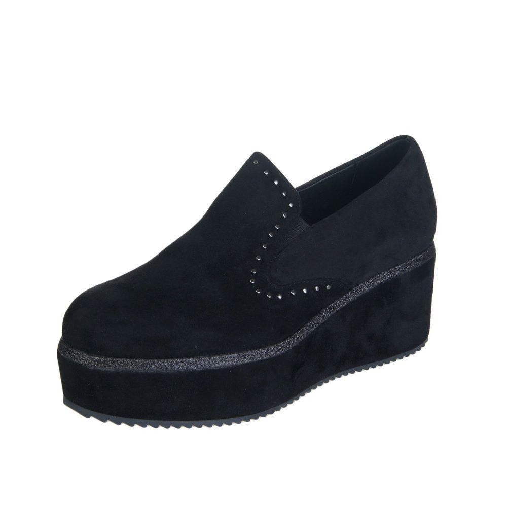 e05f43da366 CAFENOIR Platform Loafer Shoes Mismatch Size L38 R37 Studded Slip On Shiny  Trim  fashion  clothing  shoes  accessories  womensshoes  heels (ebay link)