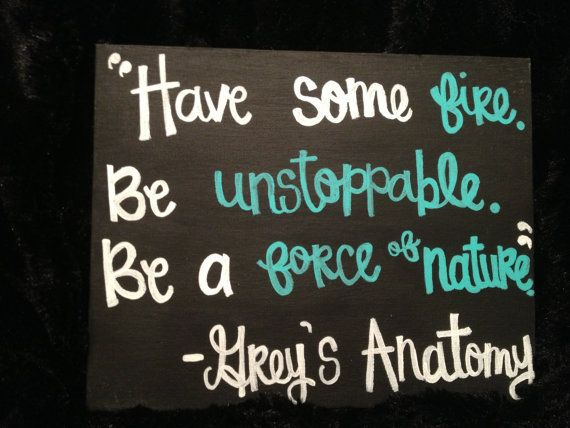 Grey\'s Anatomy Canvas Quote by changriffin22 on Etsy, $10.00 | Lil ...
