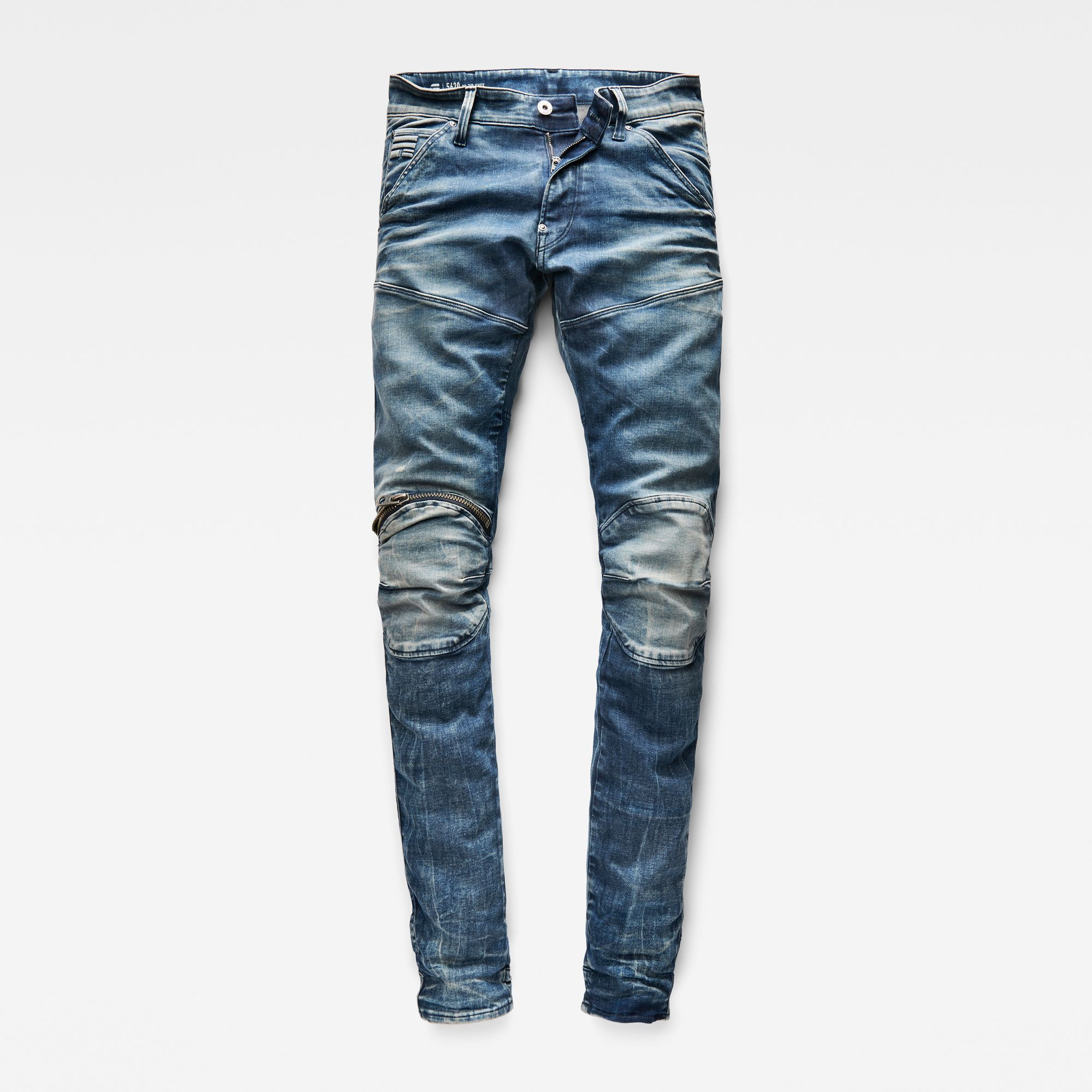5620 3D Zip Knee Skinny Jeans | Jeans, Skinny jeans, Men dress