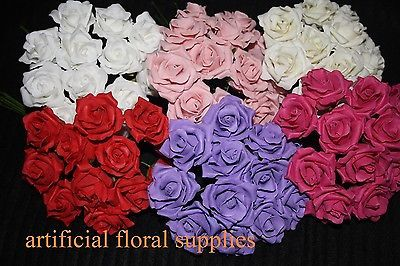 Luxury mini 12 headed foam #roses artificial #flowers weddings bouquet #buttonhol,  View more on the LINK: http://www.zeppy.io/product/gb/2/360551939026/