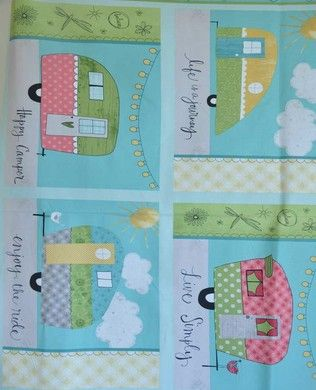 54501437 Placemat Panel | Wilmington Prints Fabric | Katie Doucette | On The Road Again