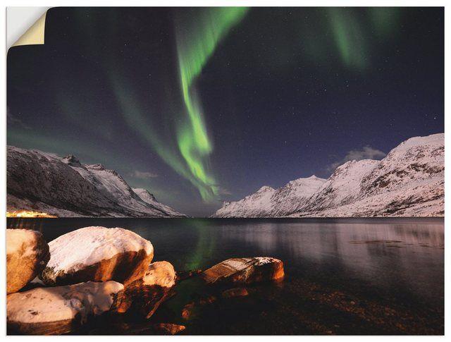 Artland Premium Wandfolie »Elke Schmid-Neebe: Nordlicht Norwegen« online kaufen | OTTO #naturallandmarks