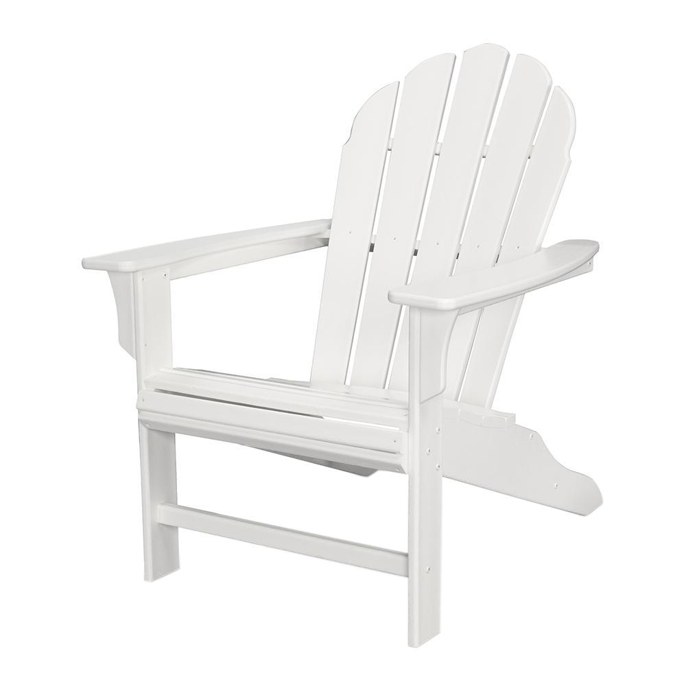 Trex Outdoor Furniture HD Classic White Patio Adirondack Chair ...
