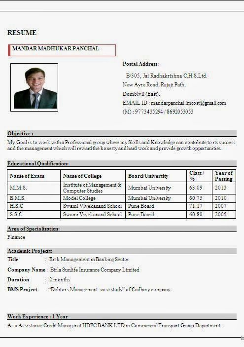 creating a resume for free Sample Template Example of Excellent - sample risk management resume
