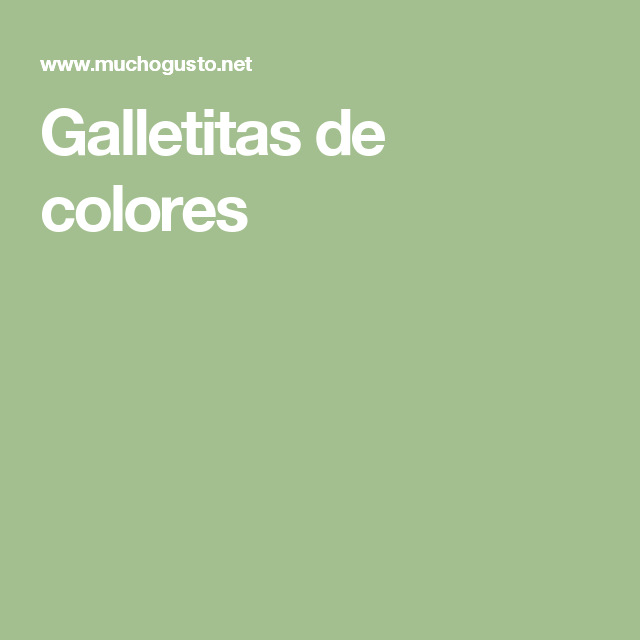Galletitas de colores