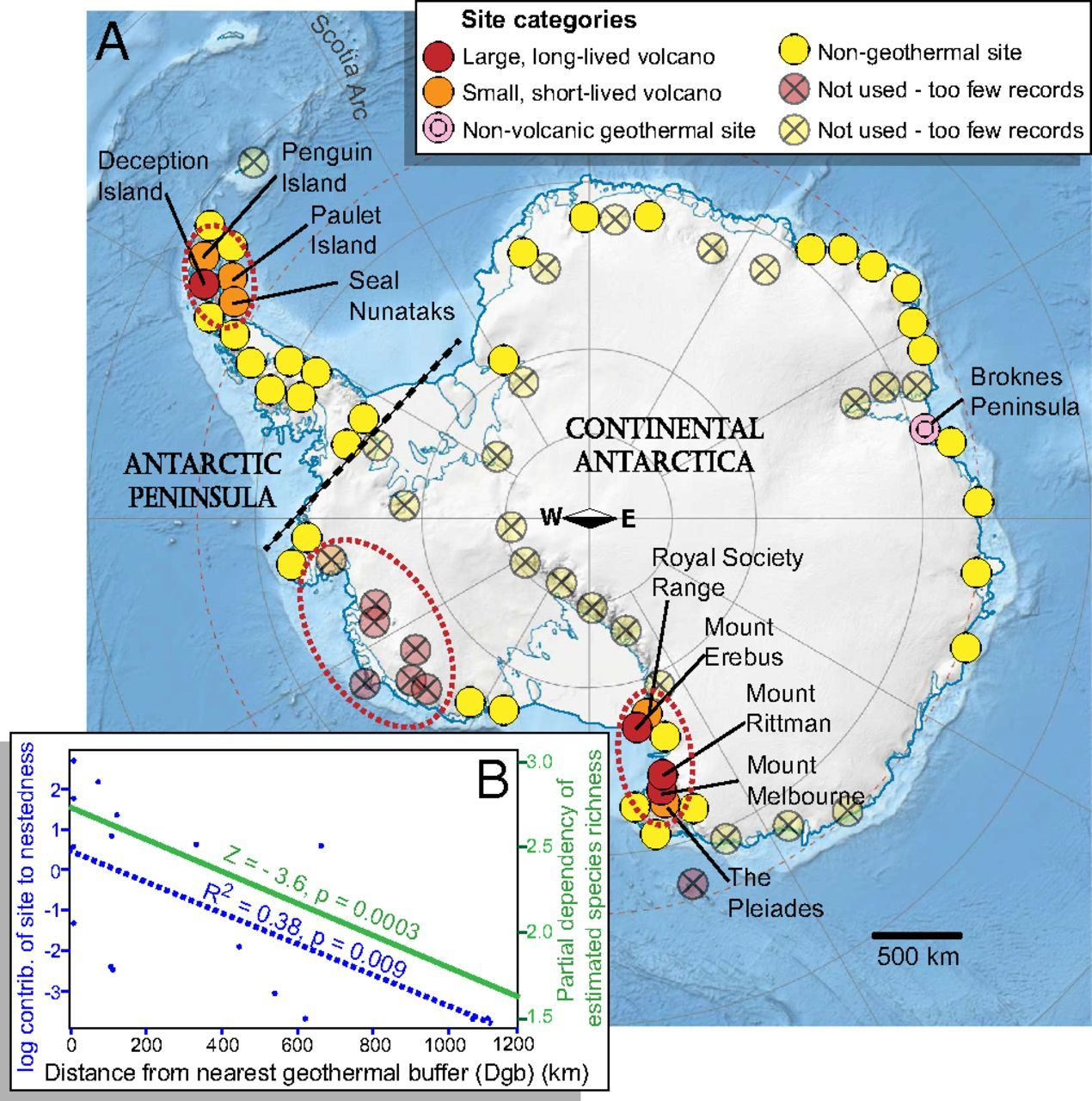 Volcanoes And Other Geothermal Sites In Antarctica By BAS Map - Where is antarctica on the map
