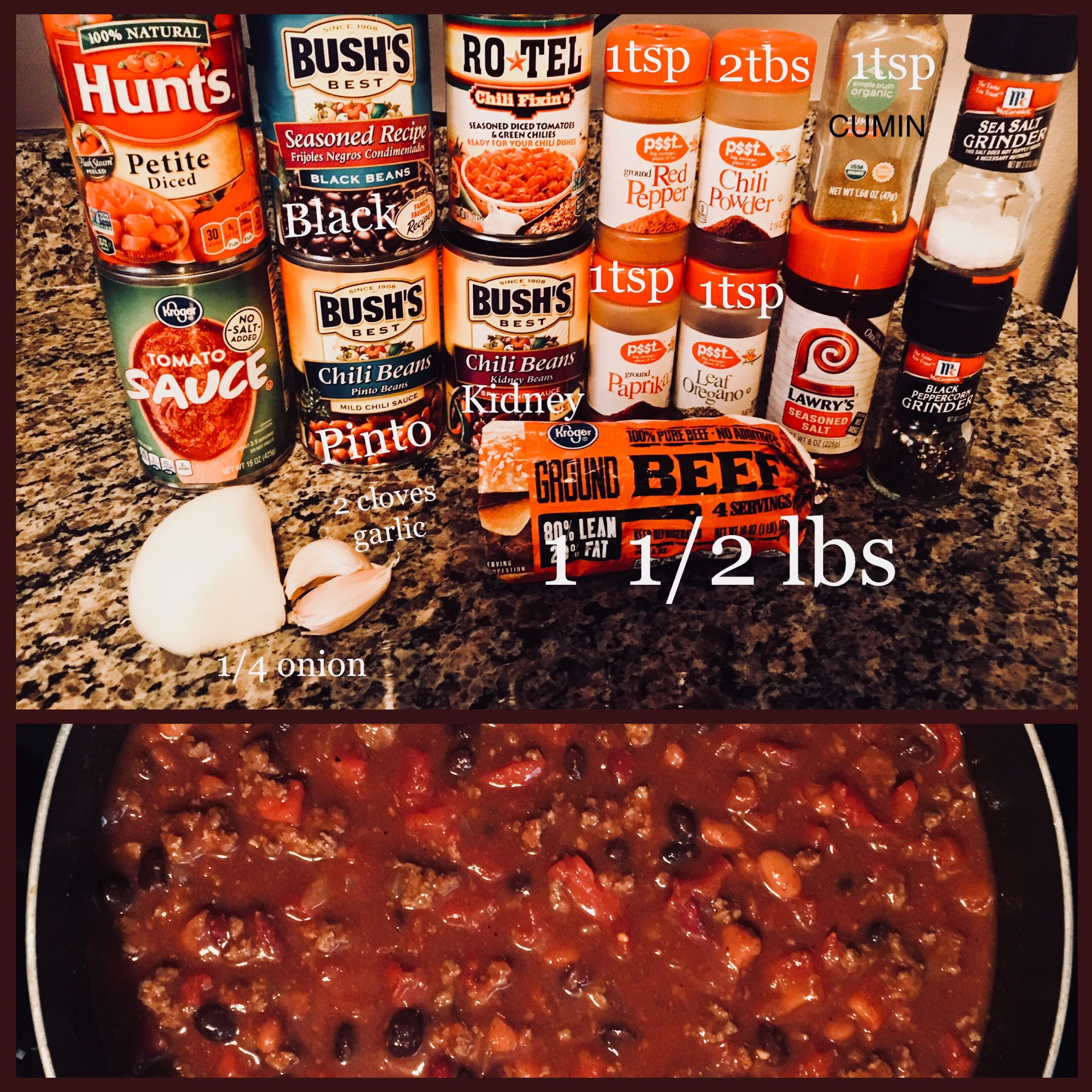 Homemade Chili Simple Ground Beef And Bean Hardy Chili Recipe Easy Crock Pot Stovetop Sim Easy Homemade Chili Chili Recipe Easy Chilli Recipe Crockpot