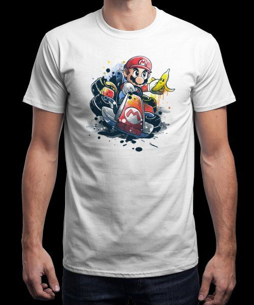 """Go kart watercolor"" is today's £9/€11/$12 tee for 24 hours only on Pin this… 