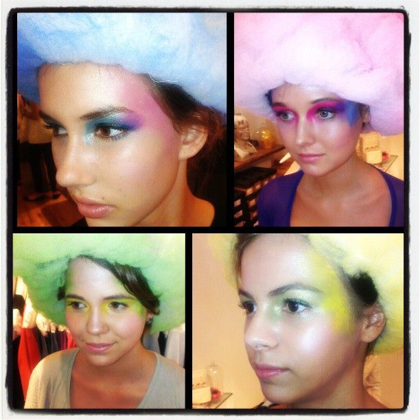 """My four looks from the Nicole Kwon + Karen Walker event! Serving abstract """"Candy Coated"""" cotton candy realness!"""