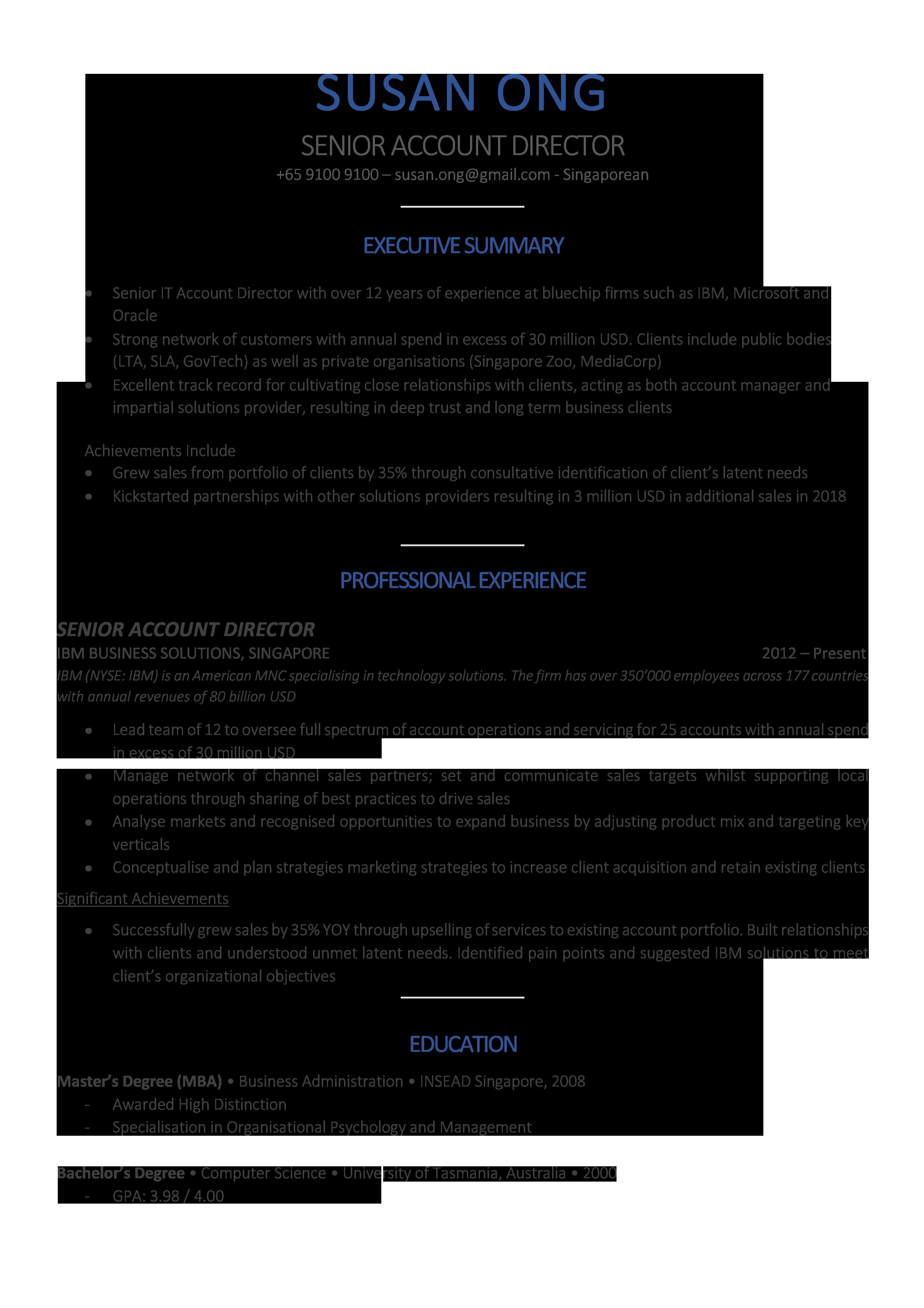 Classic Blue Resume Template CV Template in 2020