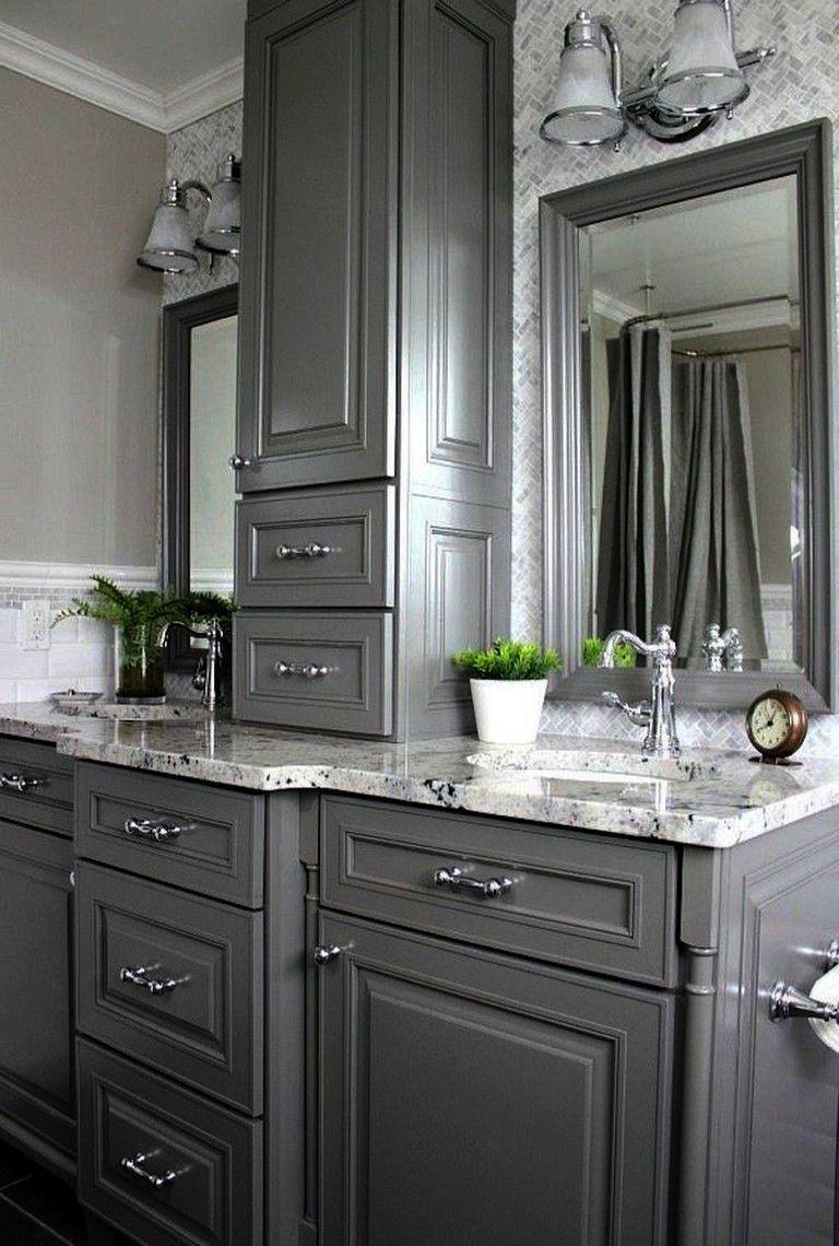 Sauder Caraway Etagere Bath Cabinet Soft White Finish Master Bathroom Makeover Small Master Bathroom Bathroom Vanity
