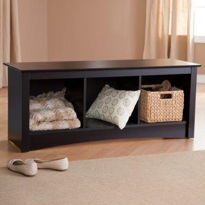 Prepac Sonoma Black Cubbie Bench | Fashion Items I love | Pinterest ...