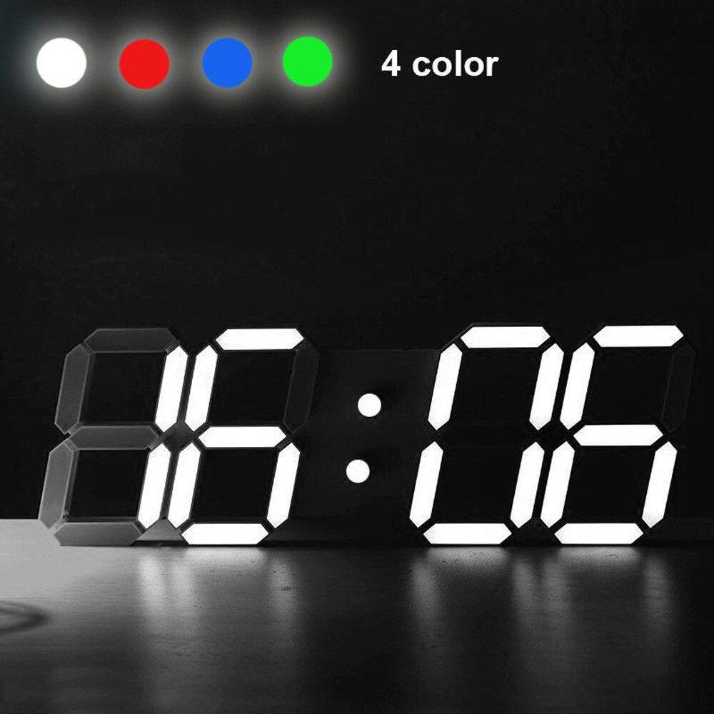 Moderne Digitale Led Tisch Schreibtisch Nacht Wanduhr Alarm Uhr 24