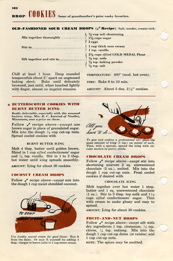 Page From Betty Crocker S Picture Cook Book Drop Cookies Drop Cookie Recipes Chocolate Drop Cookies