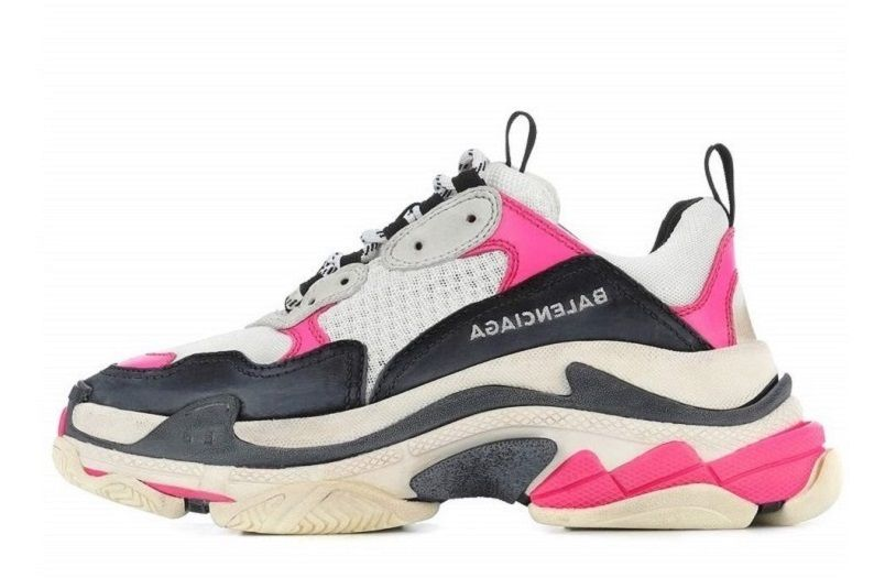 7e50b07b4c25a Replica Women s Balenciaga Triple S Black Pink Sneakers 517333W09O46322 on  Sale (1)