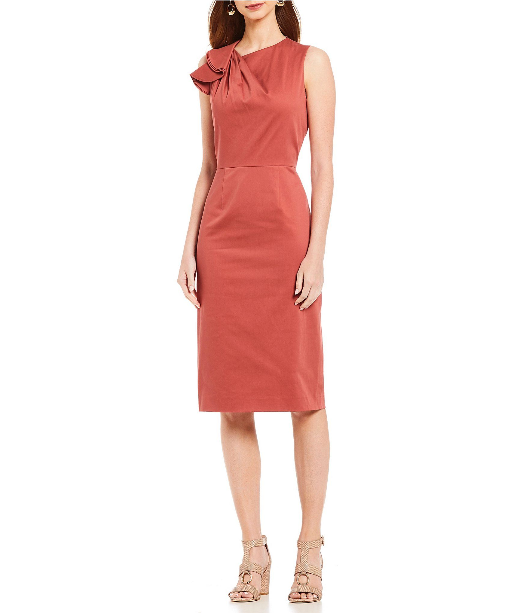 48d29a0d7db Shop for Antonio Melani Mercedes Ruffle Shoulder Midi Dress at Dillards.com.  Visit Dillards.com to find clothing