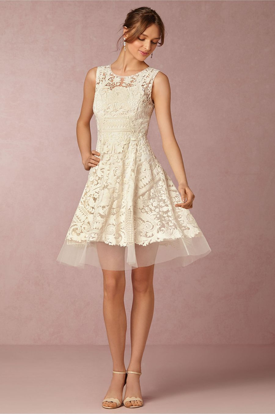 Lace dresses for wedding reception  BHLDNus Spring Collection  in Collaboration With Marchesa