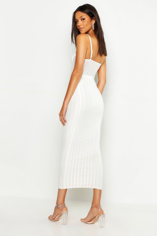 Tall Lace Mesh Bodycon Midi Dress Boohoo Midi Dress Bodycon Midi Dress White Midi Dress [ 1500 x 1000 Pixel ]