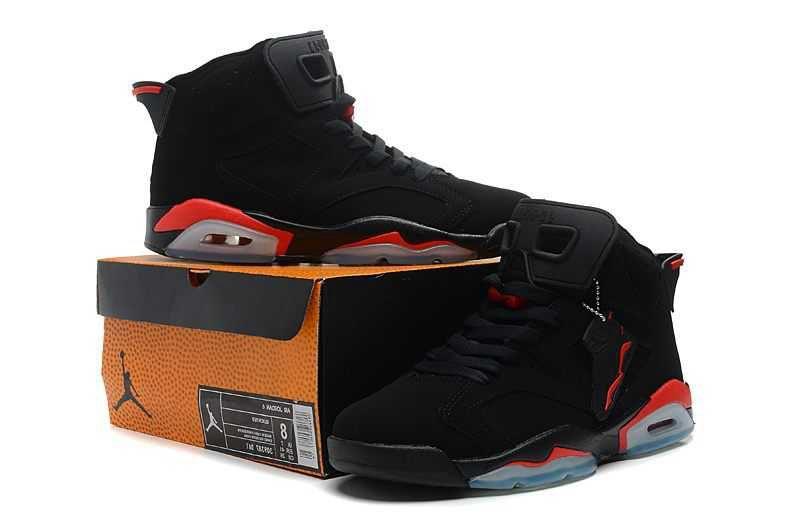 227f8284dd1 Nike Air Jordan 6 Mens 2014 New Style Black Red Shoes | Nike Air ...