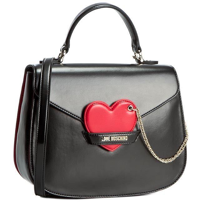 Torebka Love Moschino Jc4046pp11ld100a Nero Rosso Listonoszki Torebki Moschino Clutch Handbag Love Moschino